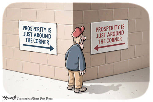 prosperity is just around the corner